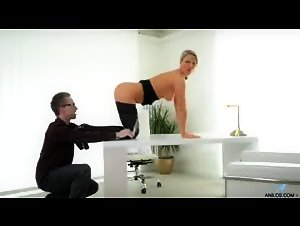 Blonde secretary fucked on her desk